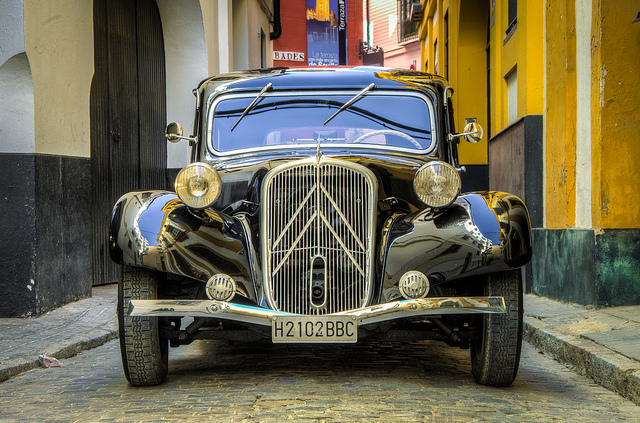 1934 Citroen Traction Avant in Seville, Spain